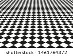 Black And White Grid Floor...