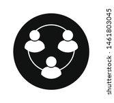 black and white user chain icon ...