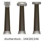 rasterized greece column... | Shutterstock . vector #146181146