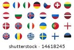europe flags icons. | Shutterstock .eps vector #14618245