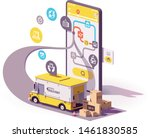 vector parcel and mail delivery ... | Shutterstock .eps vector #1461830585