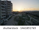 Small photo of Sunset in idlib/Syria (bombed buildings)