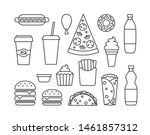 classic fast food line icons.... | Shutterstock .eps vector #1461857312