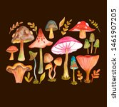 collection of hand painted... | Shutterstock . vector #1461907205