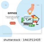 office landing page template....   Shutterstock . vector #1461911435