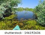 water channel in the danube...   Shutterstock . vector #146192636