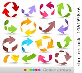 colour arrows | Shutterstock .eps vector #146192876