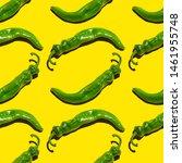 green chili pepper seamless...   Shutterstock . vector #1461955748