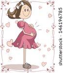 Pregnancy Cartoon   Vector Han...