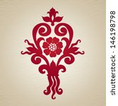 vector floral ornament in... | Shutterstock .eps vector #146198798