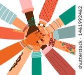 hands together   set of...   Shutterstock .eps vector #1461992462