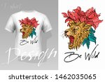 Stock vector prints on t shirts sweatshirts cases for mobile phones souvenirs isolated vector illustration 1462035065
