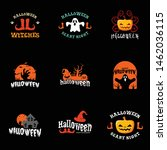 halloween party festival logo... | Shutterstock .eps vector #1462036115