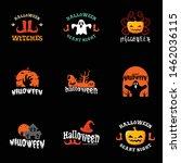 halloween party festival logo... | Shutterstock .eps vector #1462036115