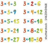 multiplication table of funny... | Shutterstock .eps vector #1462043468