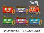 steam train. children's train... | Shutterstock .eps vector #1462046585