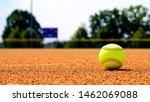 Softball On Softball Field With ...