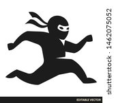 ninja simple icon vector logo | Shutterstock .eps vector #1462075052