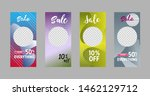 template of stories sale banner ... | Shutterstock .eps vector #1462129712