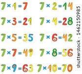 multiplication table of funny... | Shutterstock .eps vector #1462150985