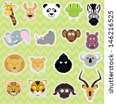 cute isolated animals   vector... | Shutterstock .eps vector #146216525