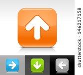 arrow icon. blue  orange  green ...
