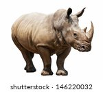 huge rhino isolated on white | Shutterstock . vector #146220032
