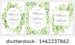 wedding invitation with green... | Shutterstock .eps vector #1462237862