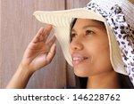 portraits of women wearing hats. | Shutterstock . vector #146228762