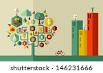 sustainable energy town concept. | Shutterstock . vector #146231666