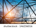 high voltage post.high voltage... | Shutterstock . vector #146236016