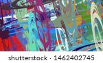 canvas painting. colorful... | Shutterstock . vector #1462402745
