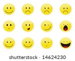smile icon set. | Shutterstock .eps vector #14624230