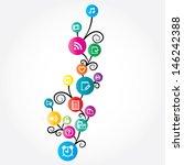 social network | Shutterstock .eps vector #146242388