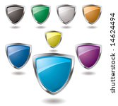 collection of colorful shield... | Shutterstock .eps vector #14624494