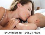 portrait of a loving mother... | Shutterstock . vector #146247506