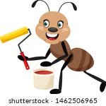 ant with paint brush ...