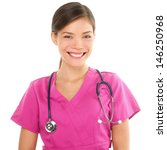 Nurse. Portrait On Young Woman...