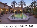 rear entrance of luxury villa... | Shutterstock . vector #146251742