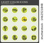 eco vector icons for web and... | Shutterstock .eps vector #1462521848