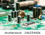 Circuit Board Background Of...