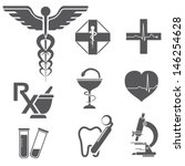 medical symbols  icons ... | Shutterstock .eps vector #146254628