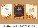 autumn with beautiful leaves.... | Shutterstock .eps vector #1462556105