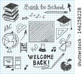 freehand drawing back to school ... | Shutterstock .eps vector #146258228