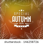 Autumn Sale Vector Retro Poste...