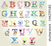 animal alphabet   vector... | Shutterstock .eps vector #146259182