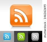 rss icon. blue  orange  green ...