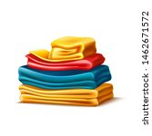 realistic folded apparel  or... | Shutterstock .eps vector #1462671572