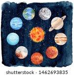 watercolor illustration of...   Shutterstock . vector #1462693835