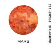 watercolor illustration of mars ...   Shutterstock . vector #1462694162